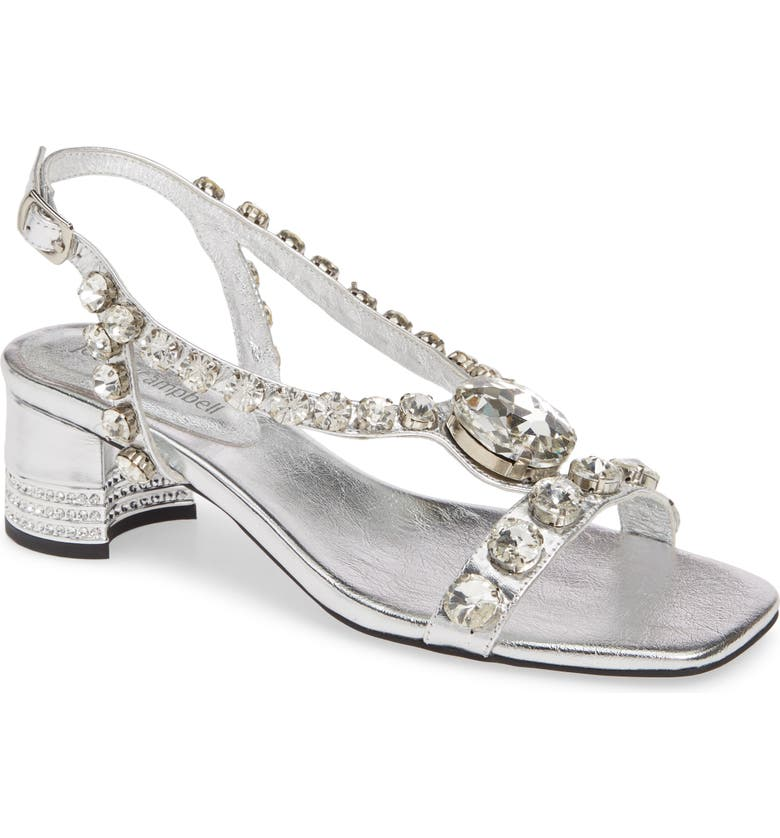 JEFFREY CAMPBELL Stasia Sandal, Main, color, SILVER SILVER