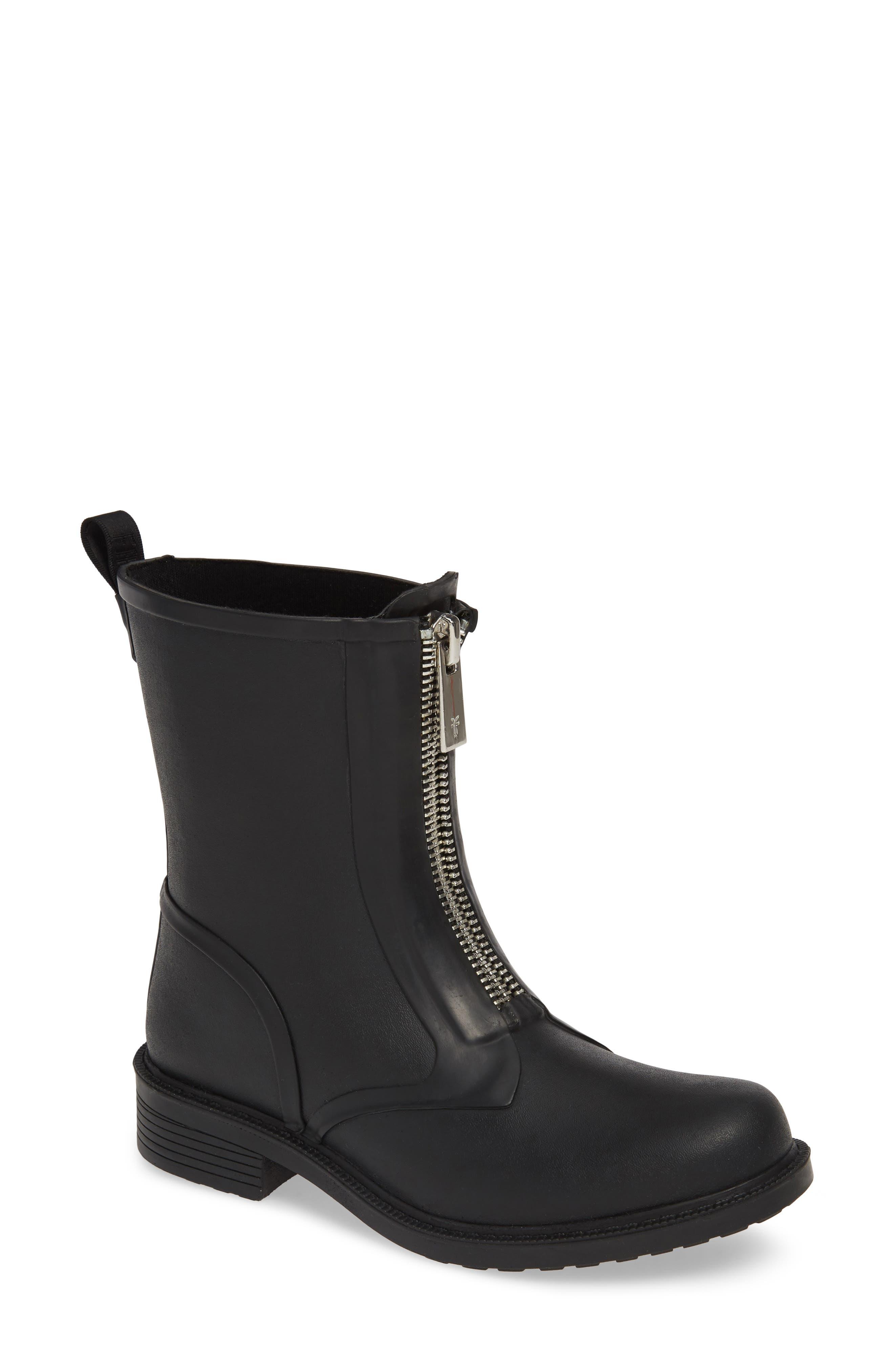 ,                             Storm Waterproof Rain Boot,                             Main thumbnail 1, color,                             BLACK