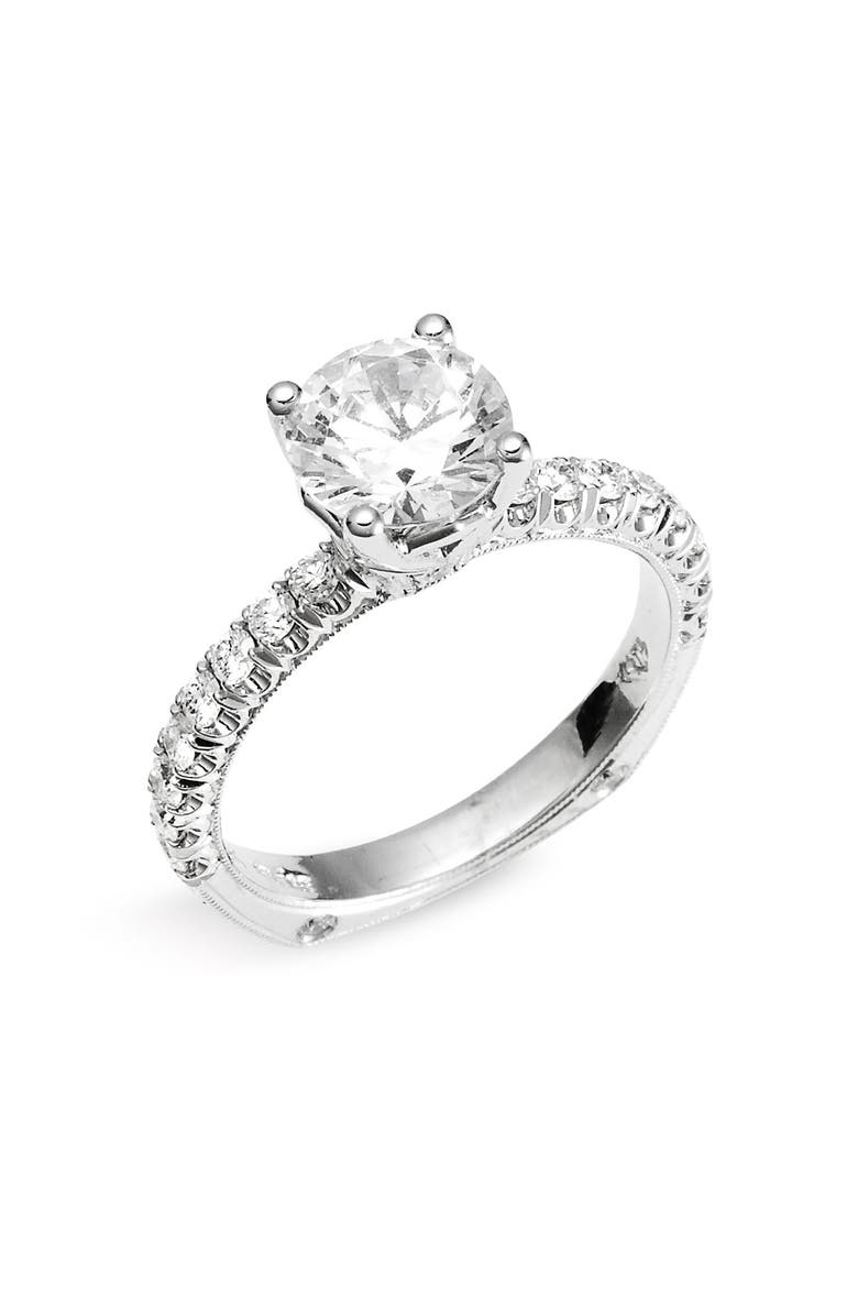 JACK KELÉGE 'Romance' Diamond Engagement Ring Setting, Main, color, 710