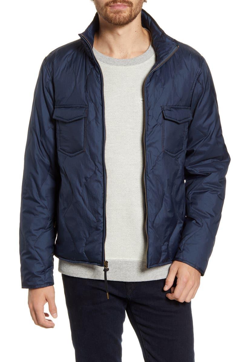 BILLY REID Water Resistant Packable Down Jacket, Main, color, NAVY