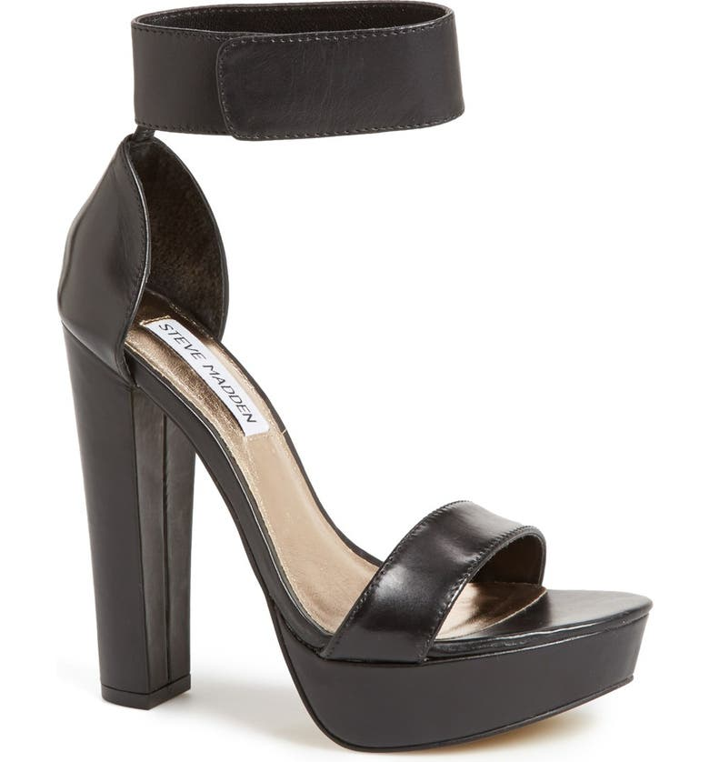 STEVE MADDEN 'Cluber' Platform Sandal, Main, color, 001