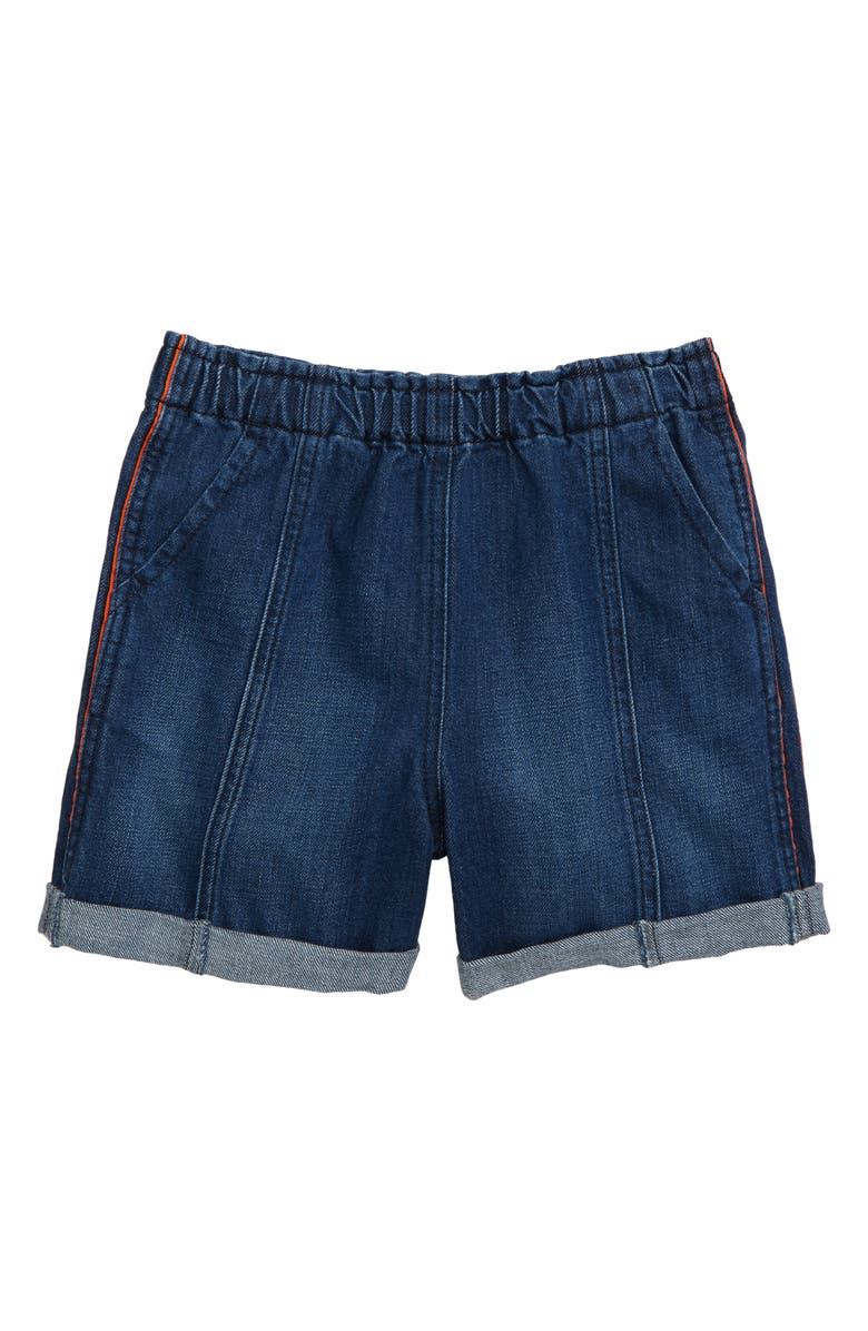 HABITUAL Rydel Roll Cuff Denim Shorts, Main, color, MED STONE