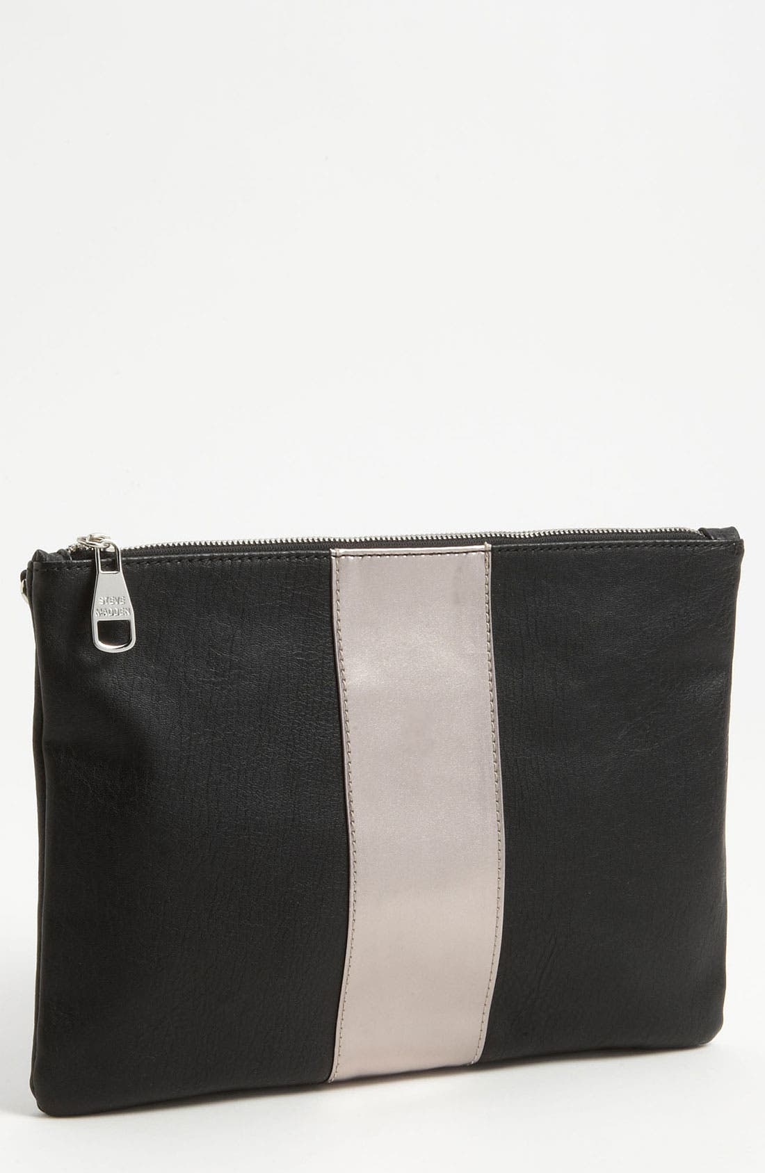 Steve Madden 'Stylarr' Clutch, Main, color, 001