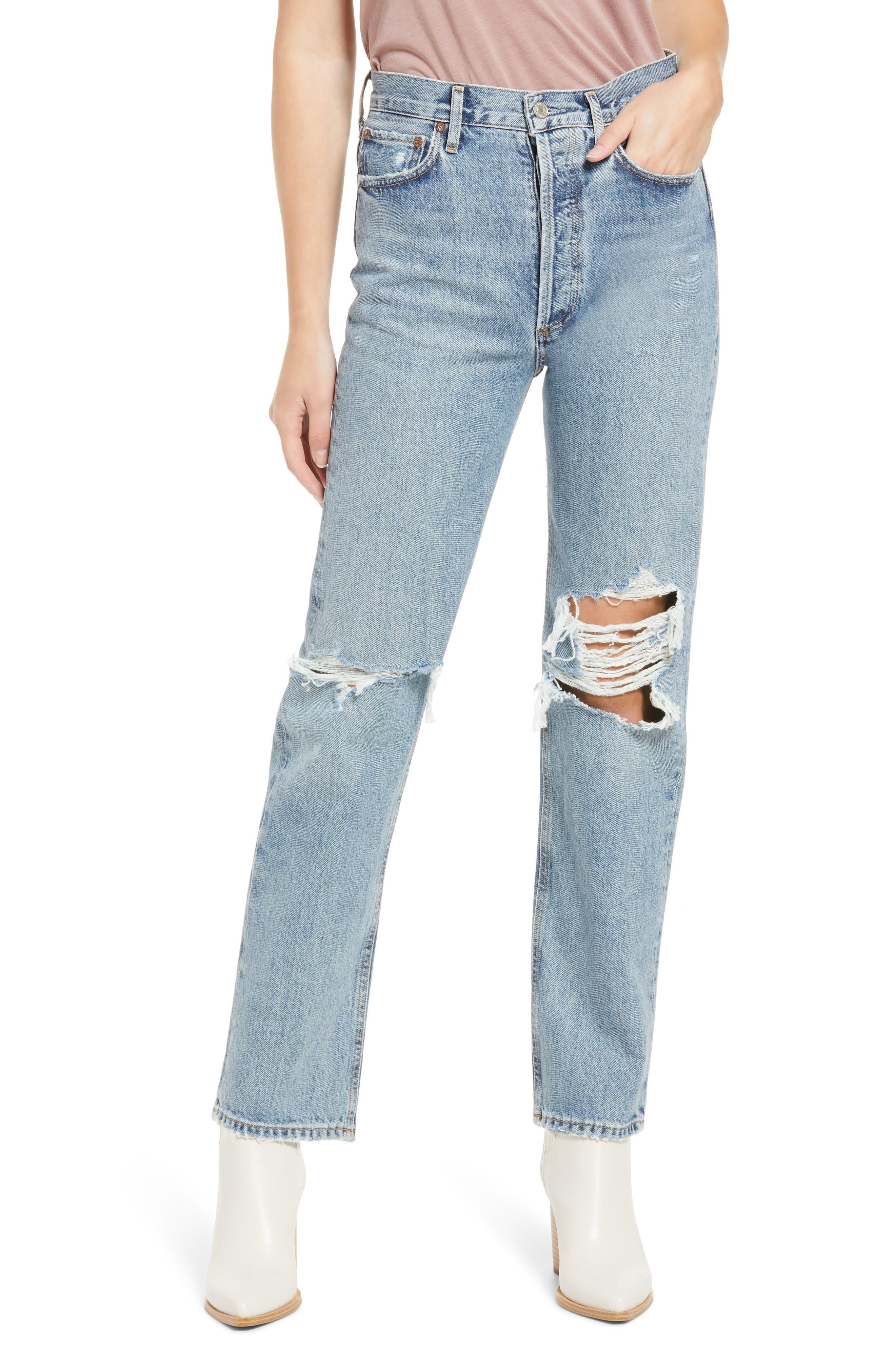 Women's Agolde '90S Pinch High Waist Straight Leg Organic Cotton Jeans