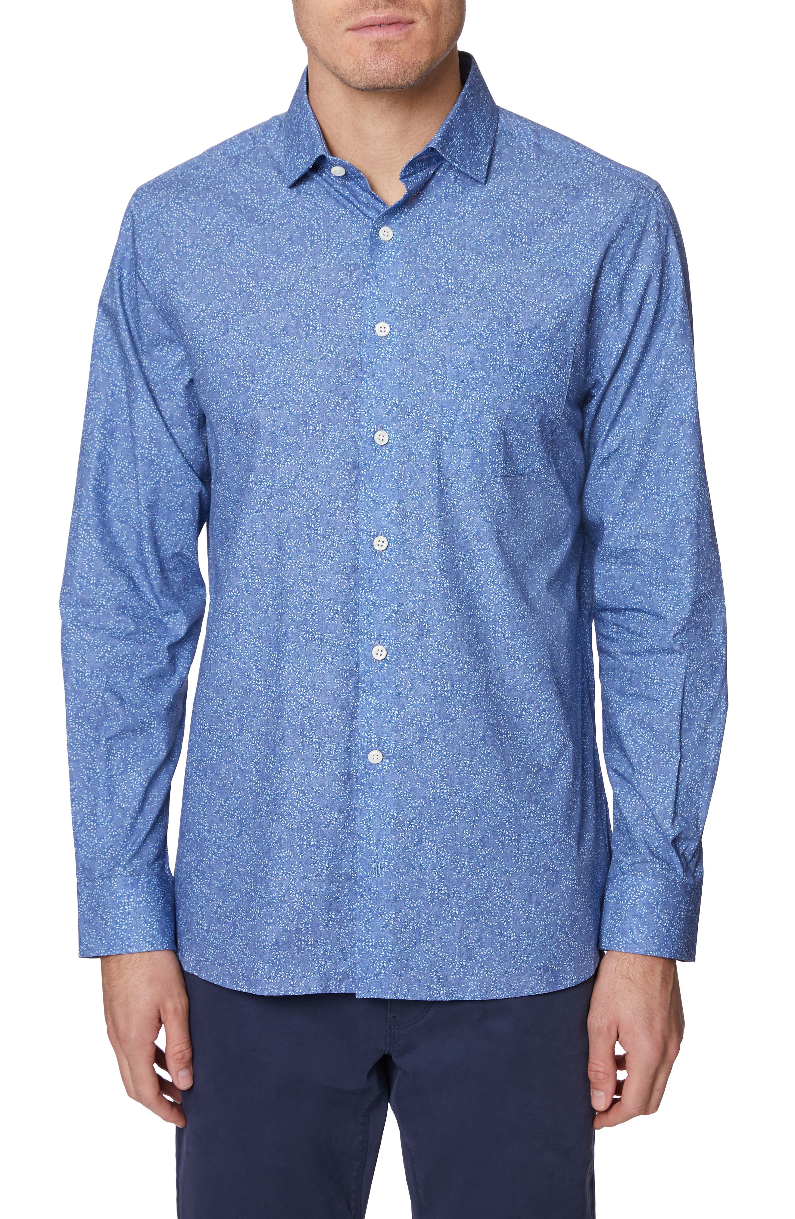 Image of Hickey Freeman Metropolitan Floral Button-Up Shirt