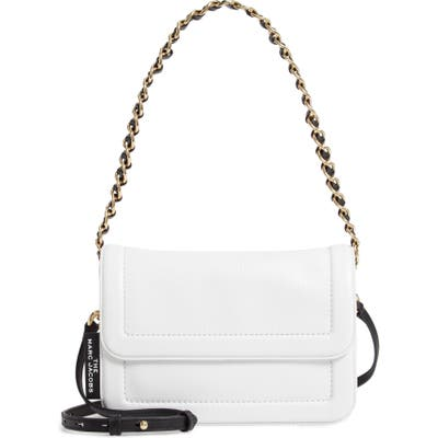 The Marc Jacobs The Cushion Leather Shoulder Bag - White