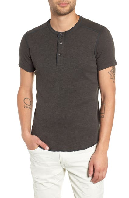 Image of WINGS AND HORNS Short Sleeve Henley T-Shirt