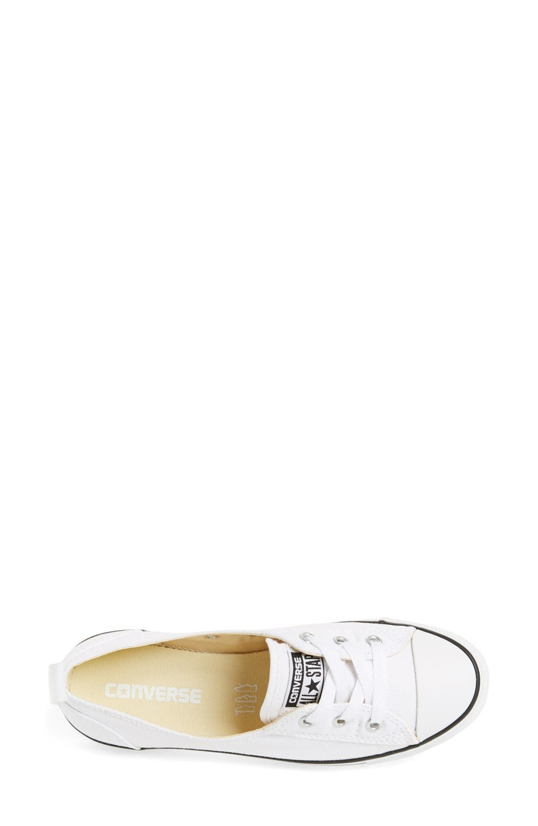 ,                             Chuck Taylor<sup>®</sup> All Star<sup>®</sup> Ballet Canvas Sneaker,                             Alternate thumbnail 18, color,                             100