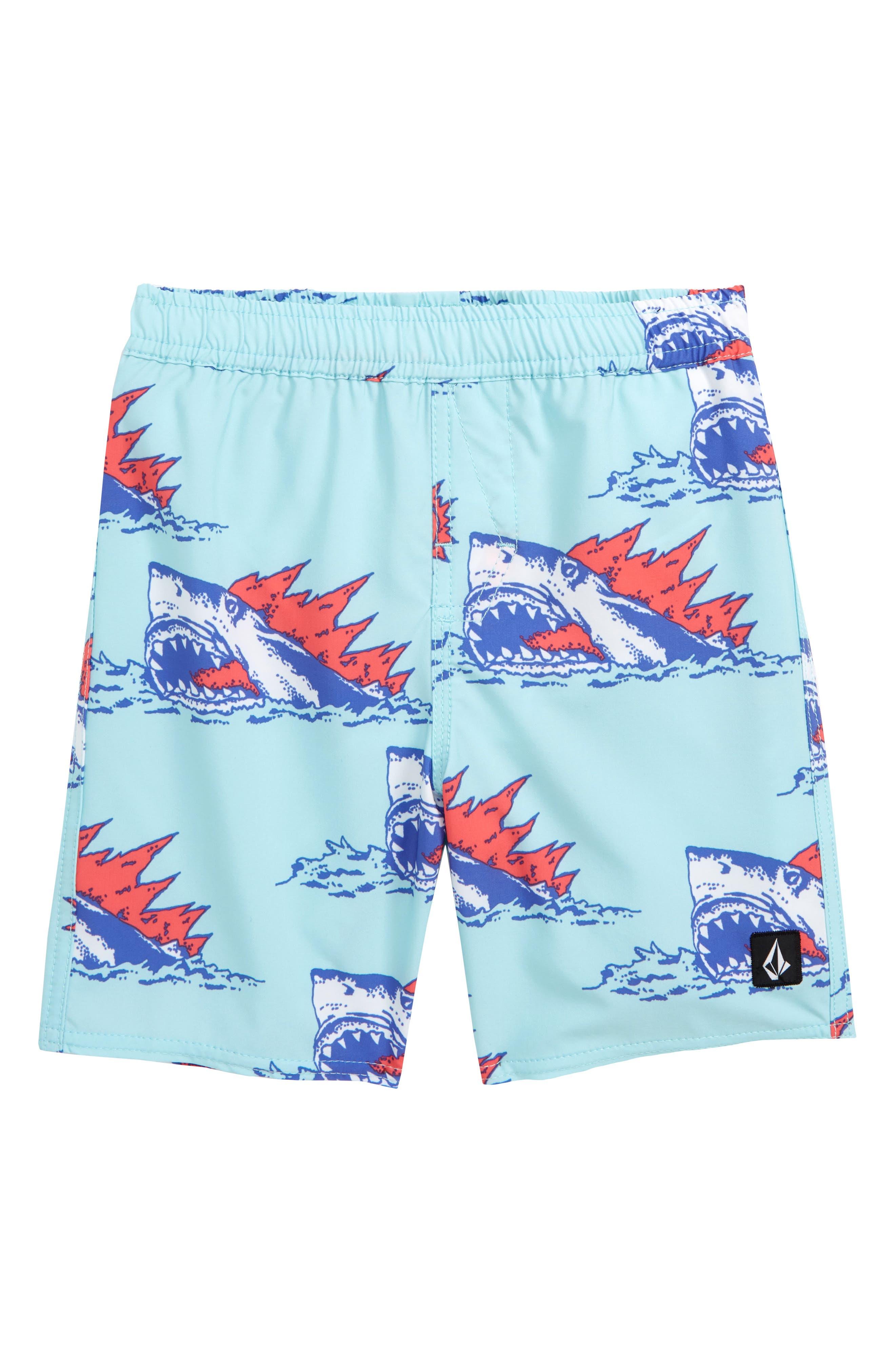 Duhh Dunt Swim Trunks, Main, color, SEAGLASS
