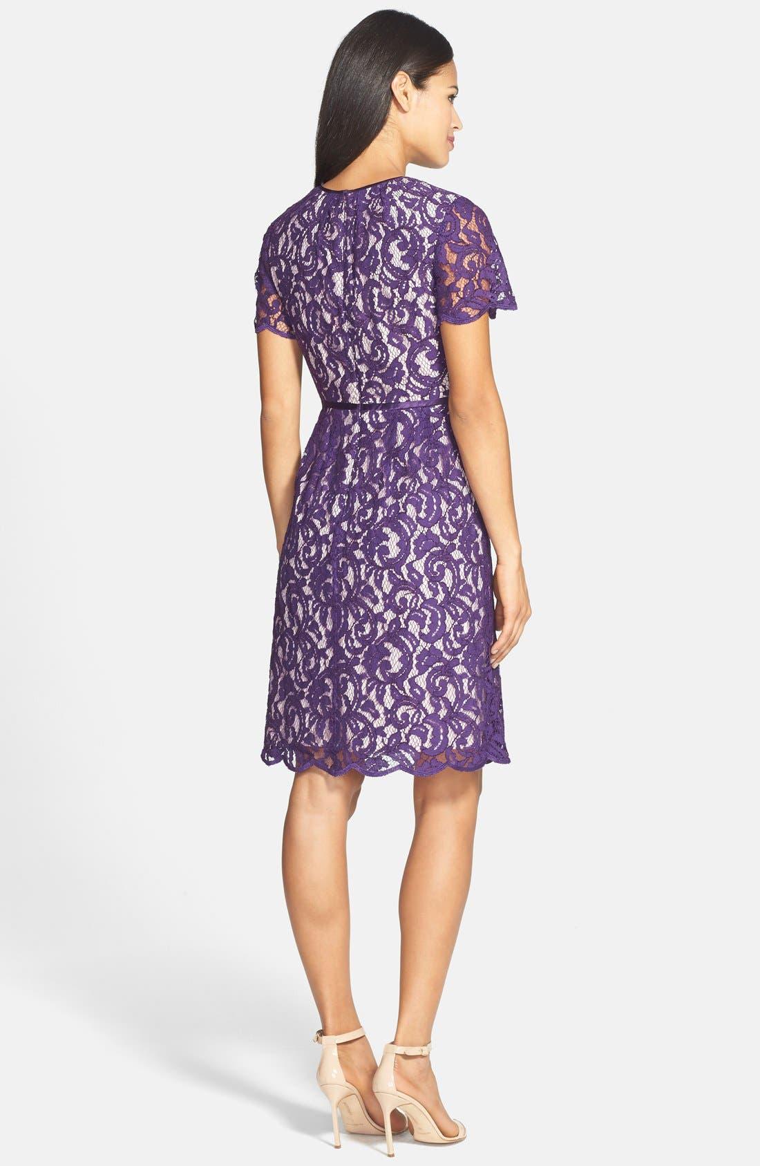 ,                             Scalloped Lace Dress,                             Alternate thumbnail 12, color,                             521