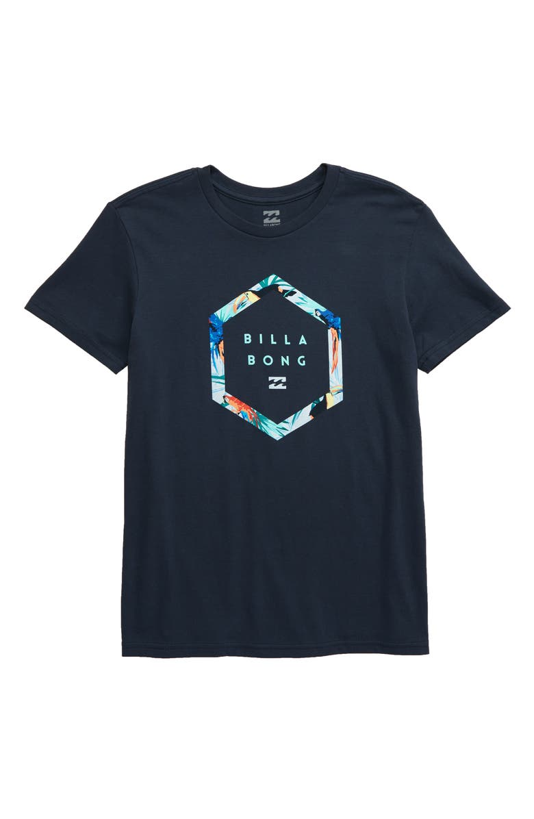 BILLABONG Access Graphic T-Shirt, Main, color, NAVY