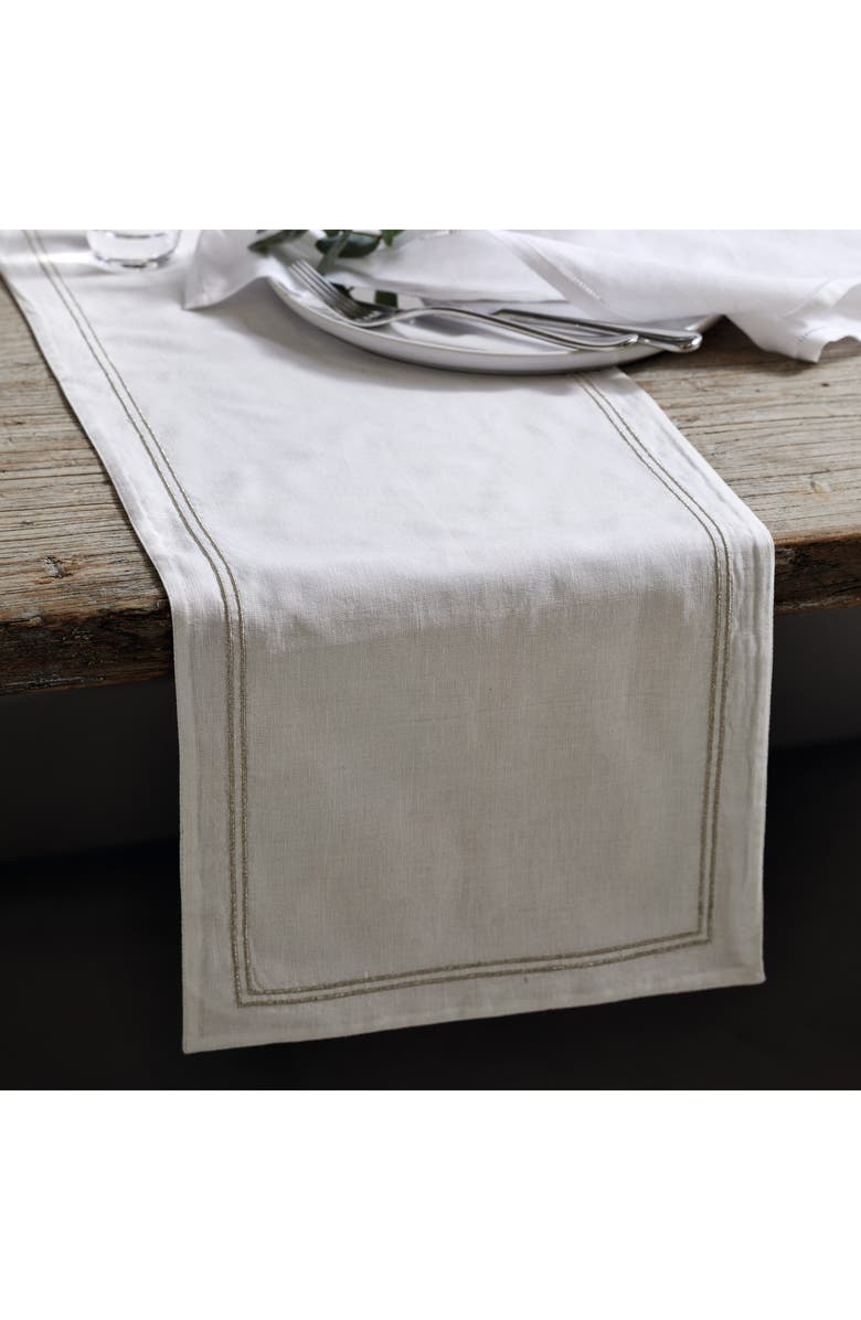 THE WHITE COMPANY Double Row Cord Table Runner, Main, color, 100
