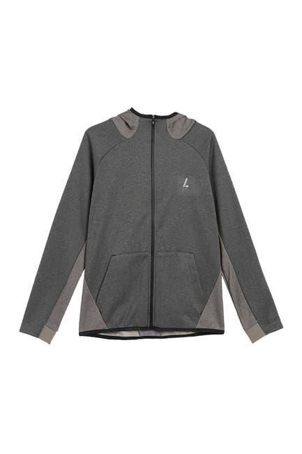 Image of Lindbergh Blocked Long Sleeve Hooded Jacket