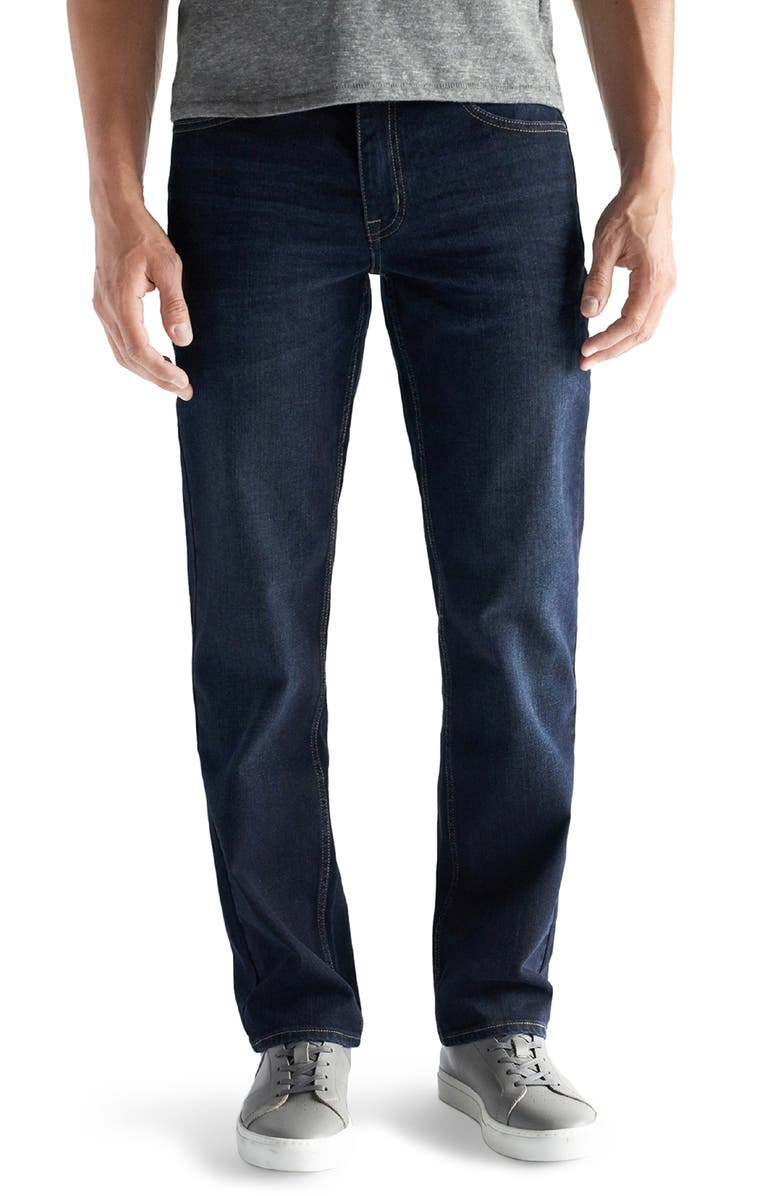 DEVIL-DOG DUNGAREES Straight Fit Performance Stretch Jeans, Main, color, LINCOLN