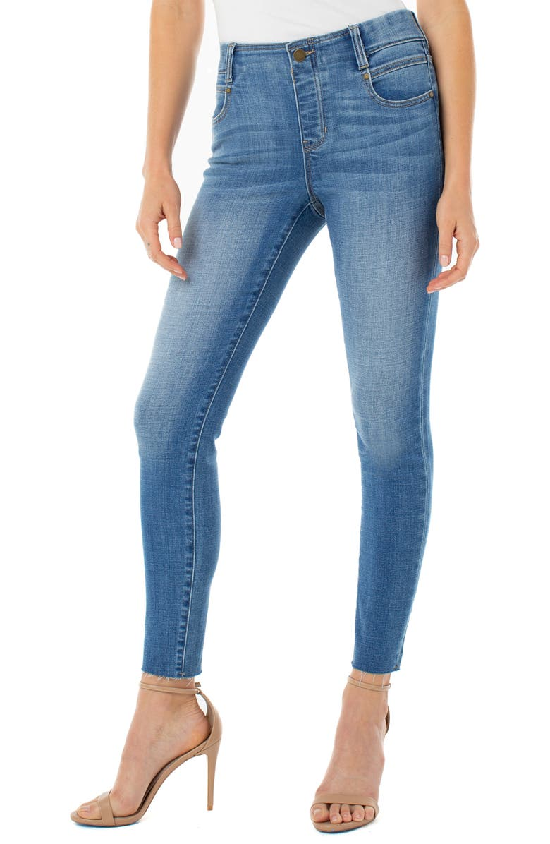 LIVERPOOL Gia Glider Pull-On Skinny Jeans, Main, color, 002