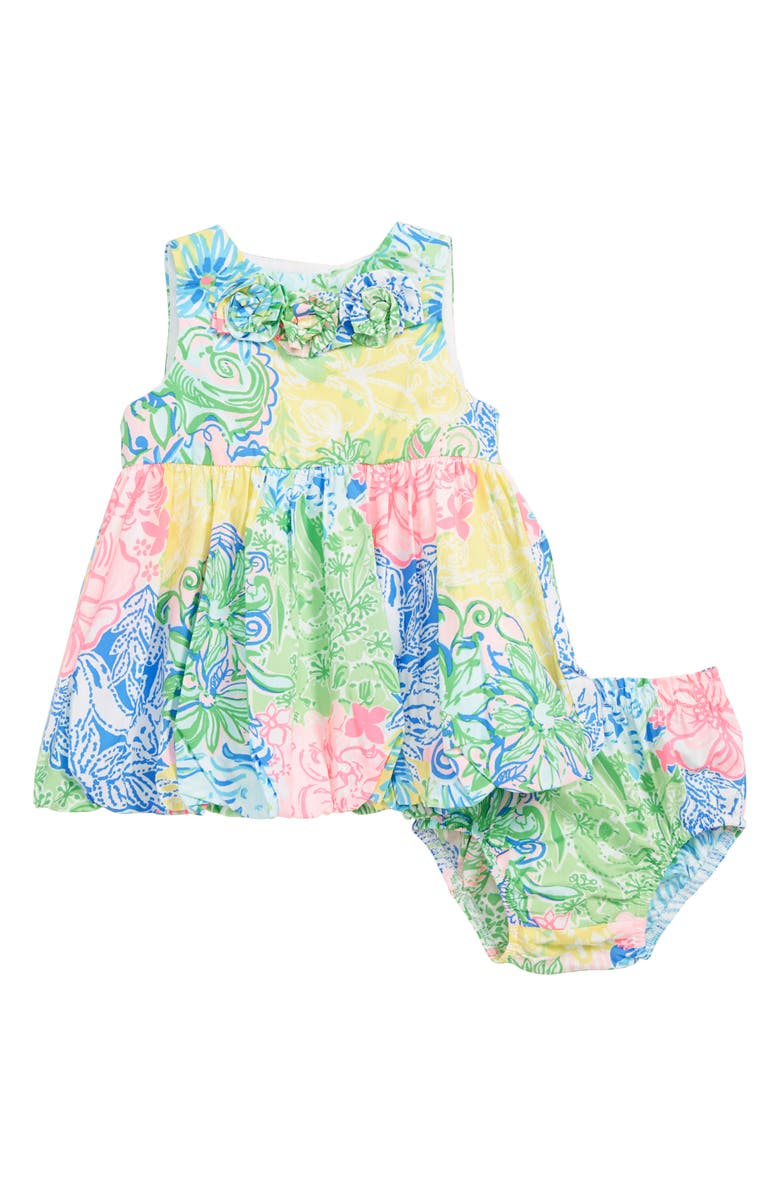 LILLY PULITZER<SUP>®</SUP> Baby Britta Shift Dress, Main, color, MULTI CHEEK TO CHEEK