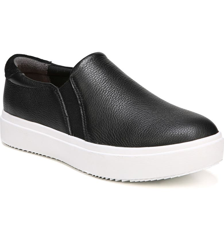 DR. SCHOLL'S Leta Slip-On Sneaker, Main, color, BLACK LEATHER