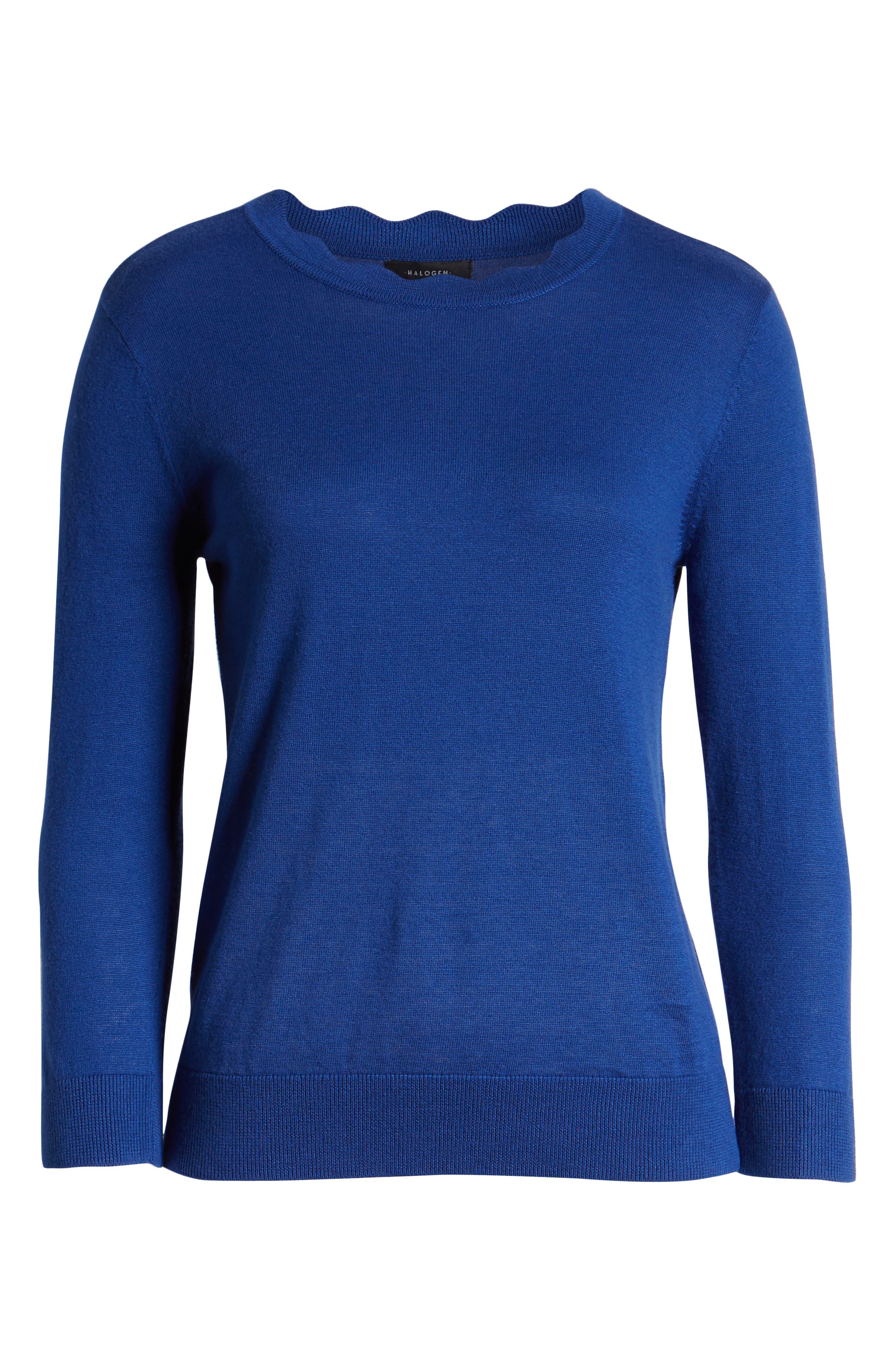 ,                             Scallop Neck Sweater,                             Alternate thumbnail 24, color,                             401