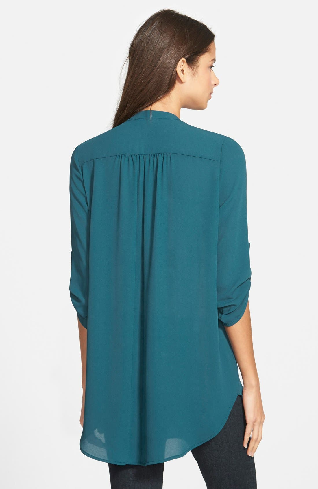 ,                             Perfect Roll Tab Sleeve Tunic,                             Alternate thumbnail 265, color,                             402