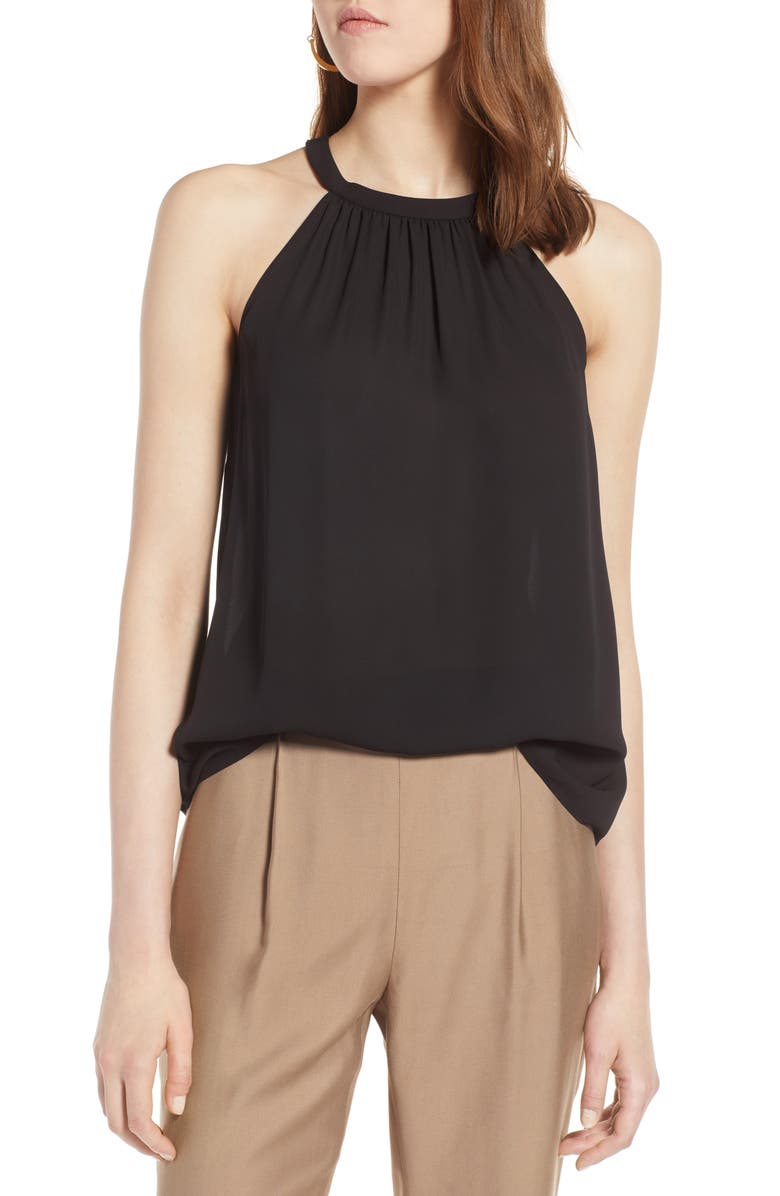 HALOGEN<SUP>®</SUP> Halter Style Top, Main, color, 001