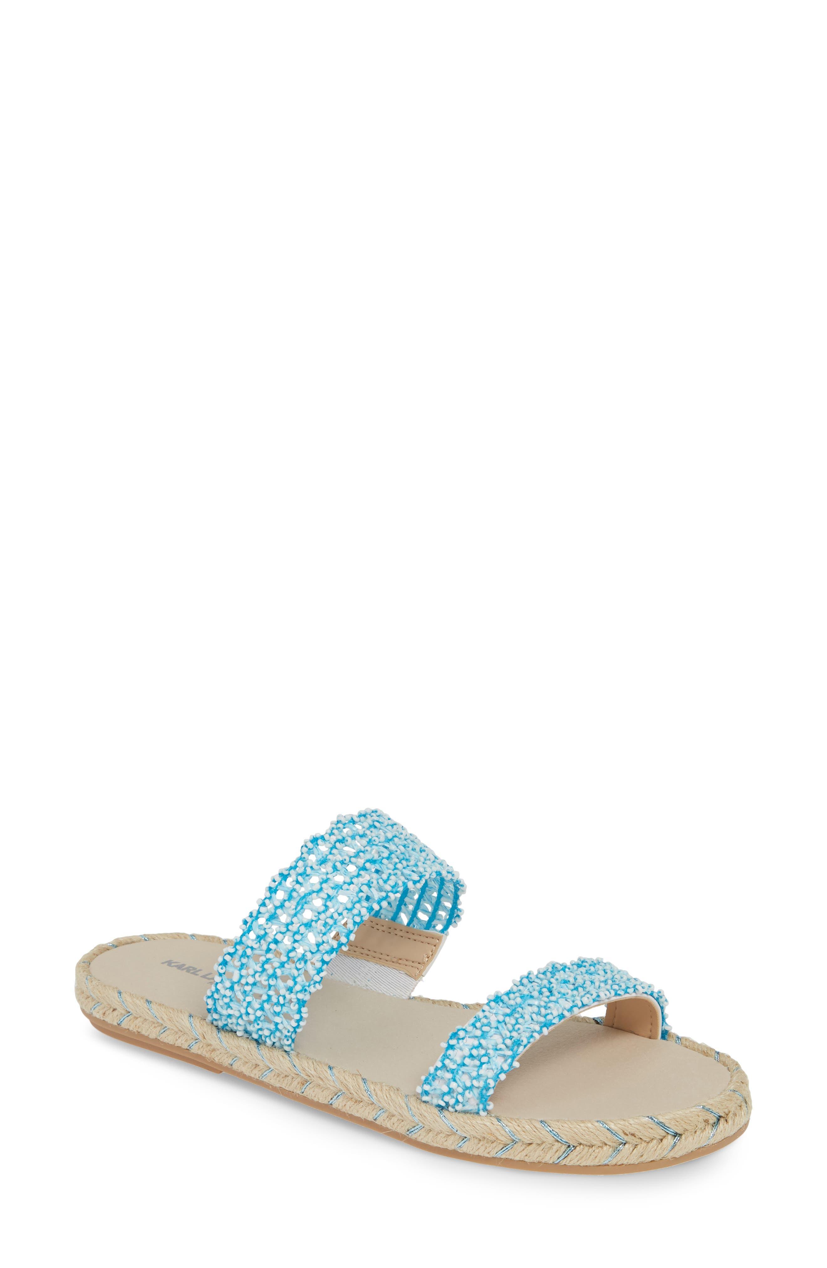 Karl Lagerfeld Paris Nita Slide Sandal- Blue