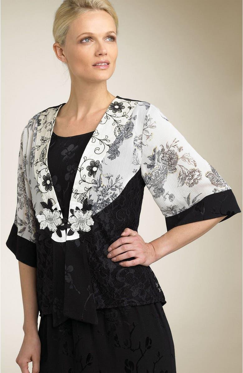 SPENCER ALEXIS Lace Burnout Kimono Jacket, Main, color, AXQ