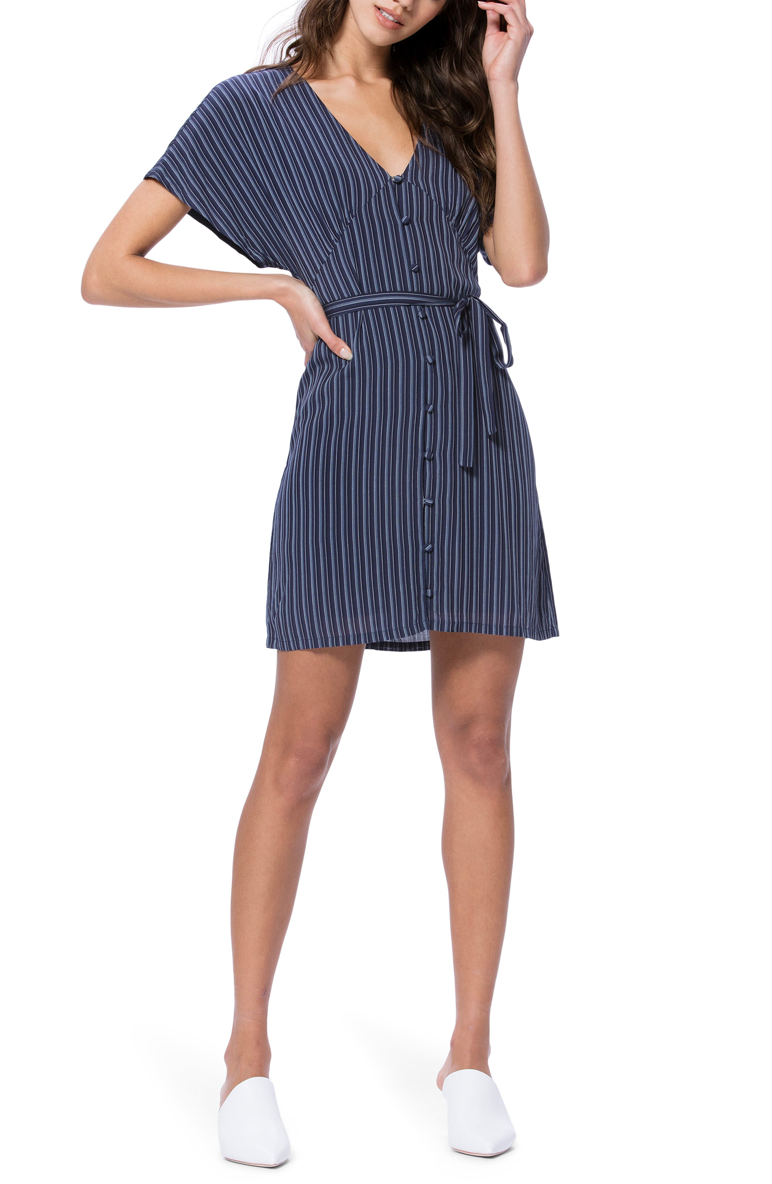 Paige Cherelle Stripe Minidress, Blue