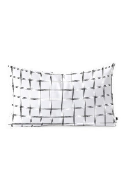 "Image of Deny Designs Kelly Haines Minimal Check V2 Oblong Throw Pillow - 23"" x 14"""