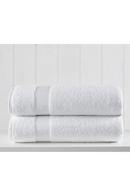 Image of Modern Threads Manor Ridge Turkish Cotton 2 Pack Bath Sheet Set - White