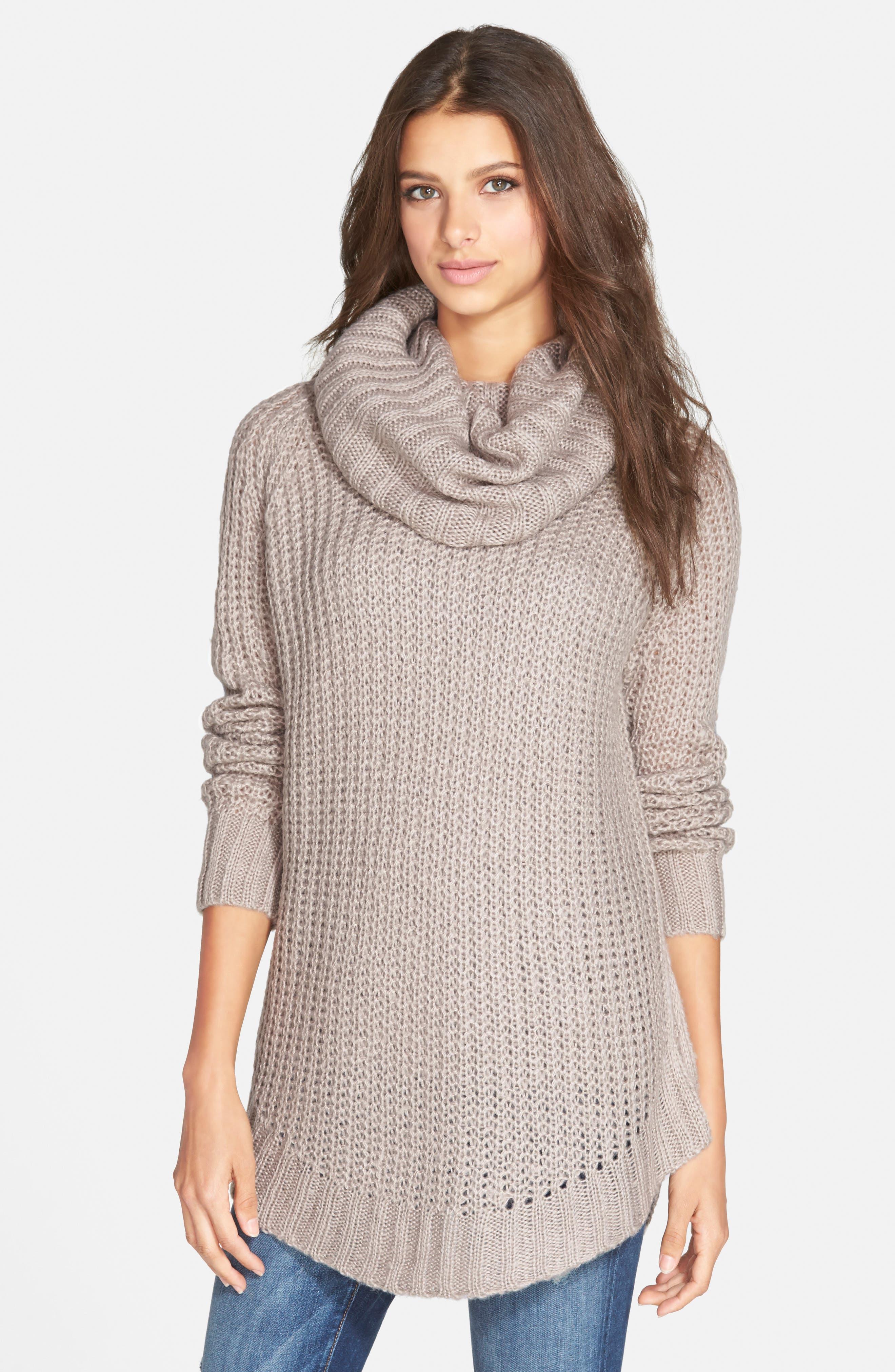 ,                             Cowl Neck Sweater,                             Alternate thumbnail 15, color,                             200