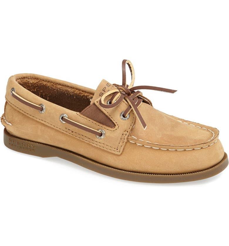 SPERRY Kids 'Authentic Original' Boat Shoe, Main, color, SAHARA