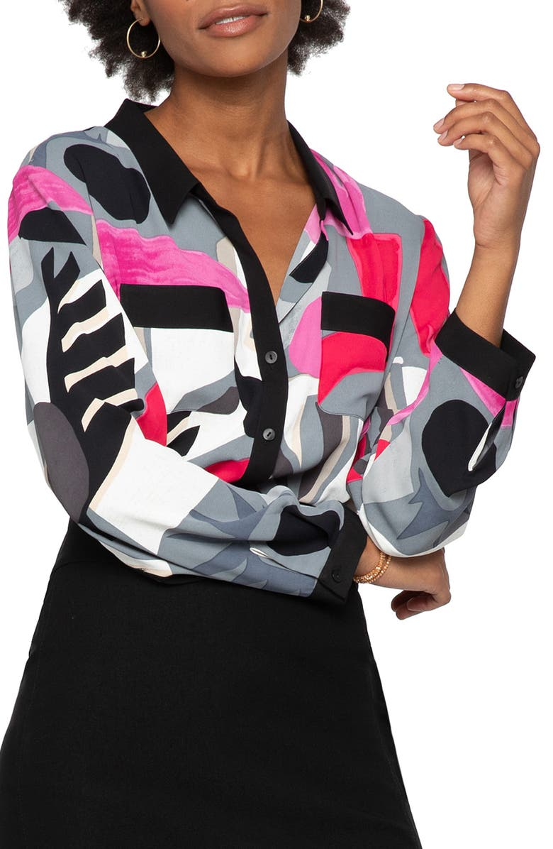 NIC+ZOE Masterpiece Shirt, Main, color, MULTI