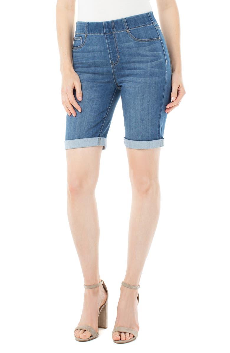 LIVERPOOL Chloe Pull-On Bermuda Shorts, Main, color, STILLWELL