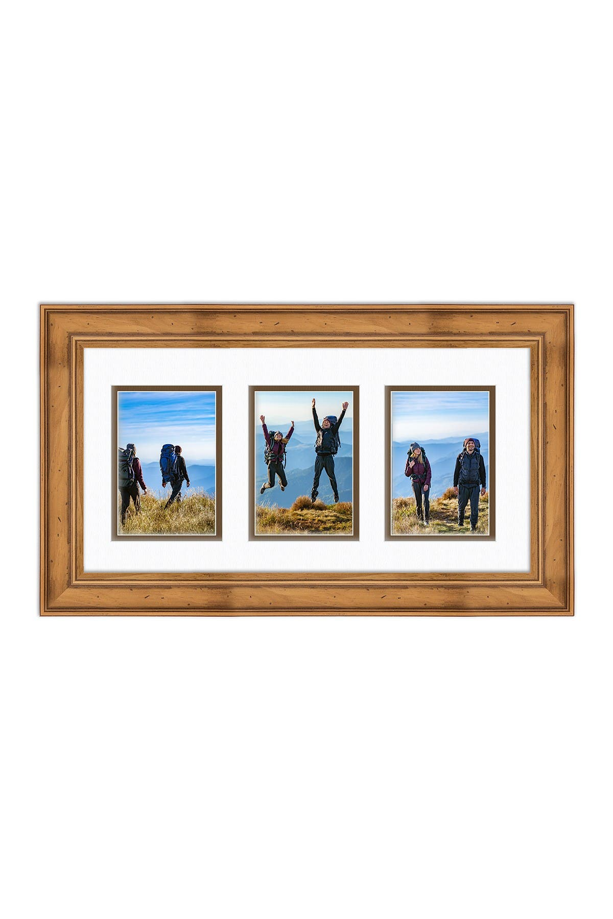COURTSIDE MARKET Industrial Rustic Collection Natural 10x20 3-5x7 Openings Collage Frame at Nordstrom Rack