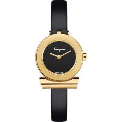 Salvatore Ferragamo Gancino Leather Strap Watch, 22Mm