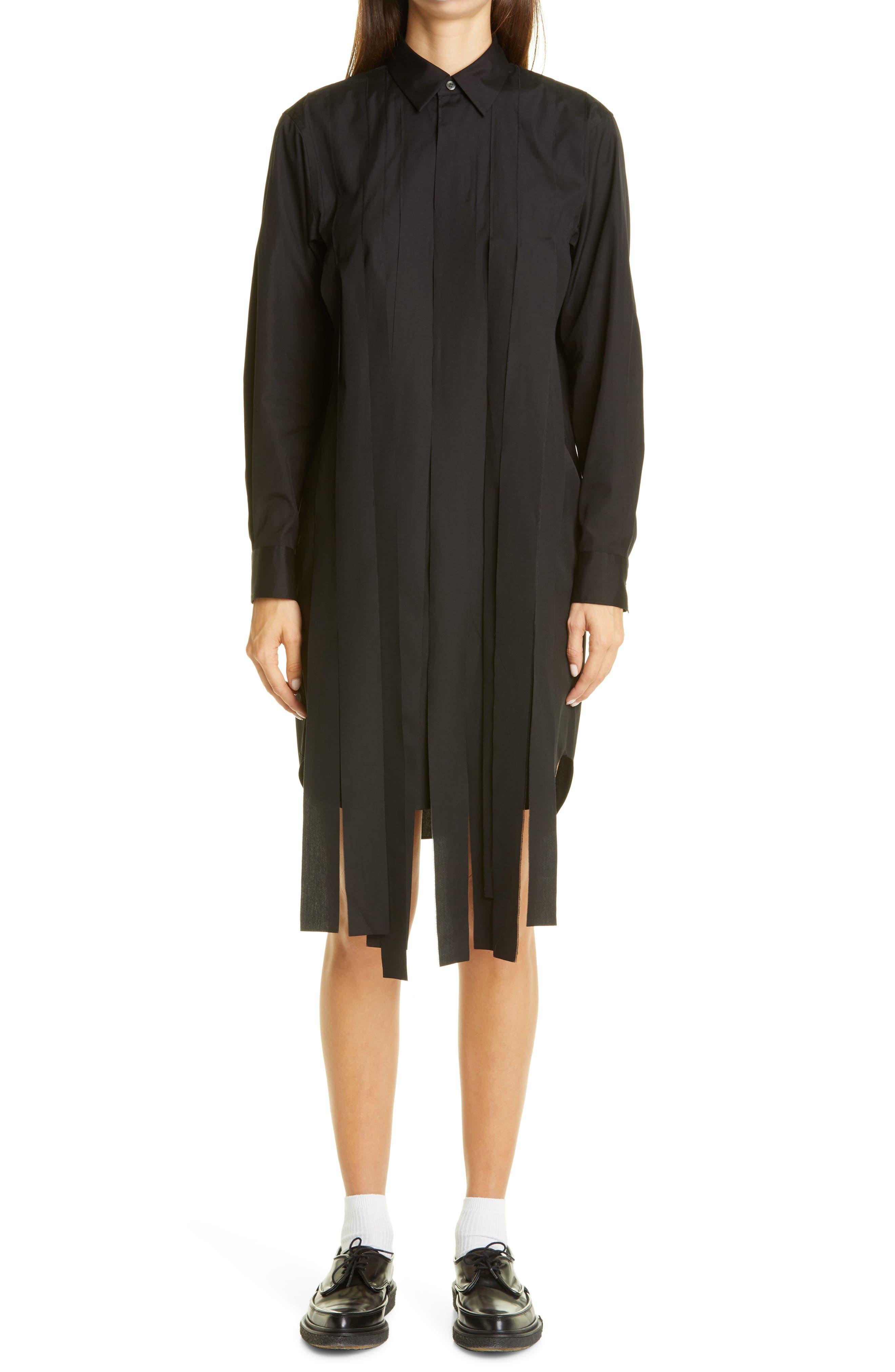 Comme des Garçons Streamer Long Sleeve Cotton Shirtdress   Nordstrom