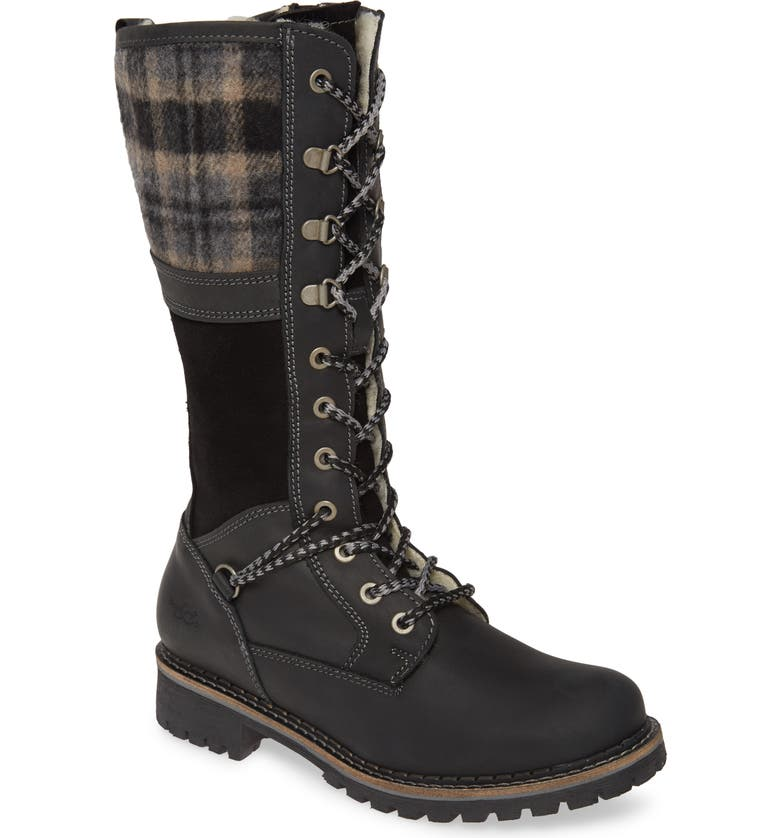 BOS. & CO. Holiday Waterproof Boot, Main, color, BLACK LEATHER