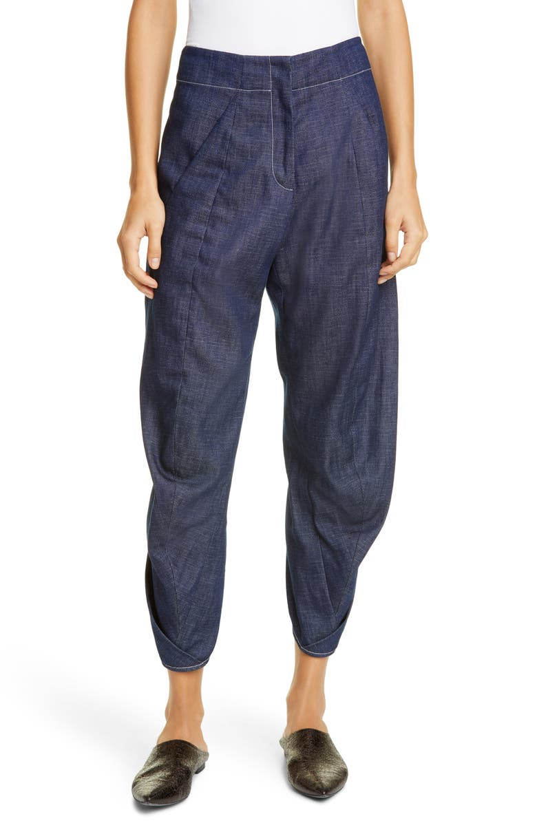 ZERO + MARIA CORNEJO Takeo Organic Cotton Denim Pants, Main, color, INDIGO