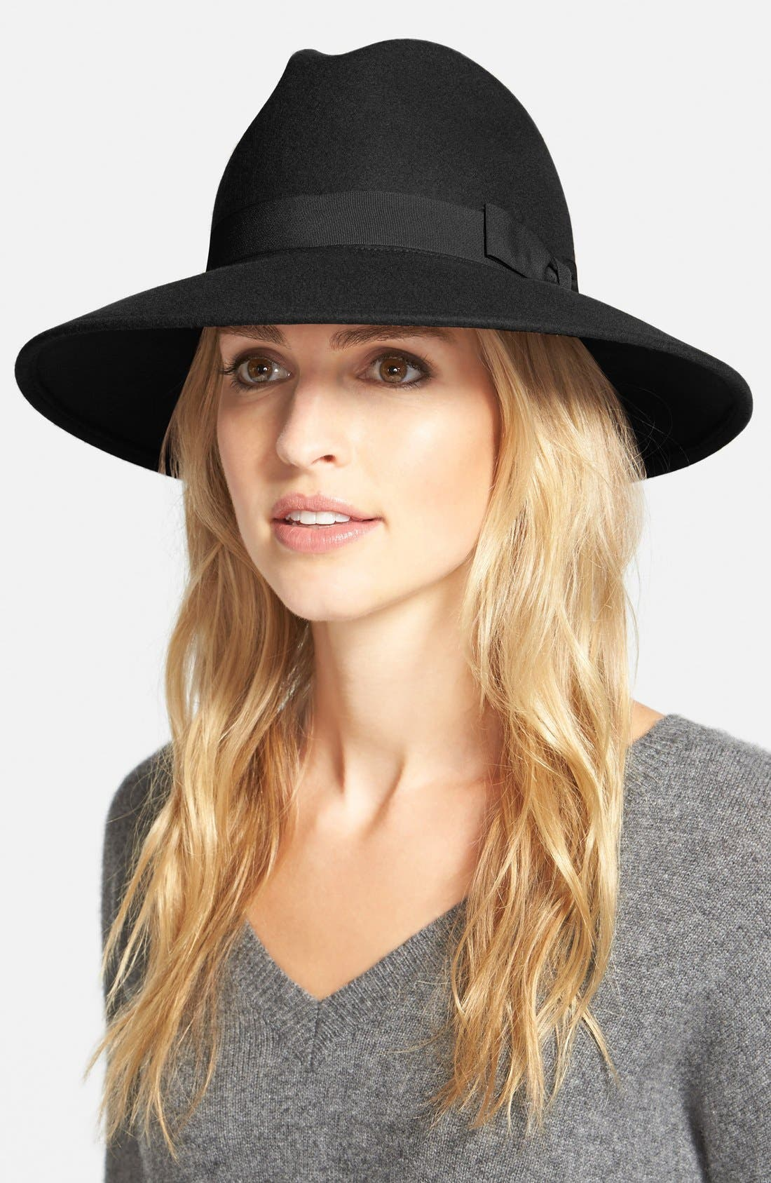 ,                             'Luxe' Felt Panama Hat,                             Main thumbnail 1, color,                             001