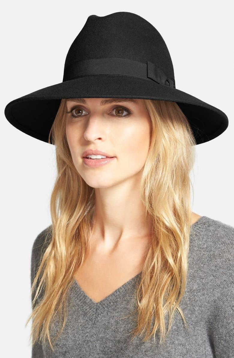 HALOGEN<SUP>®</SUP> 'Luxe' Felt Panama Hat, Main, color, 001