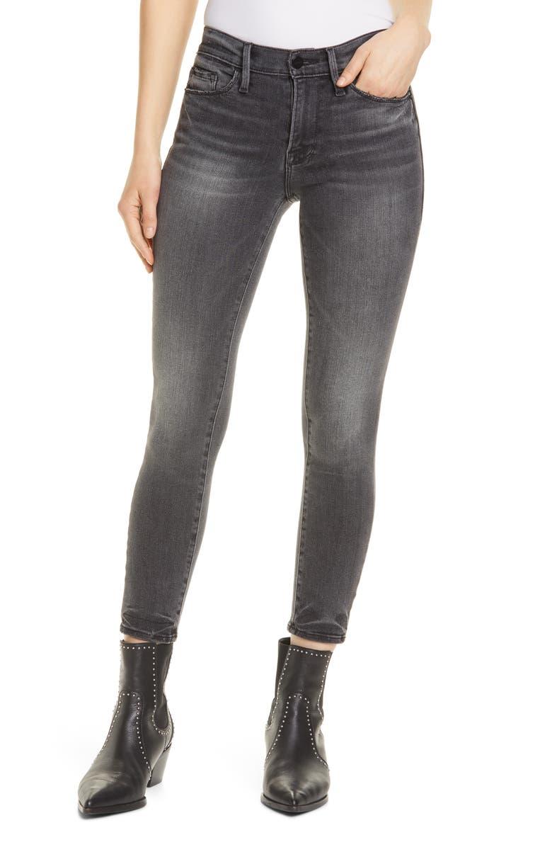 FRAME Le Skinny Crop Jeans, Main, color, JACKSON PEAK