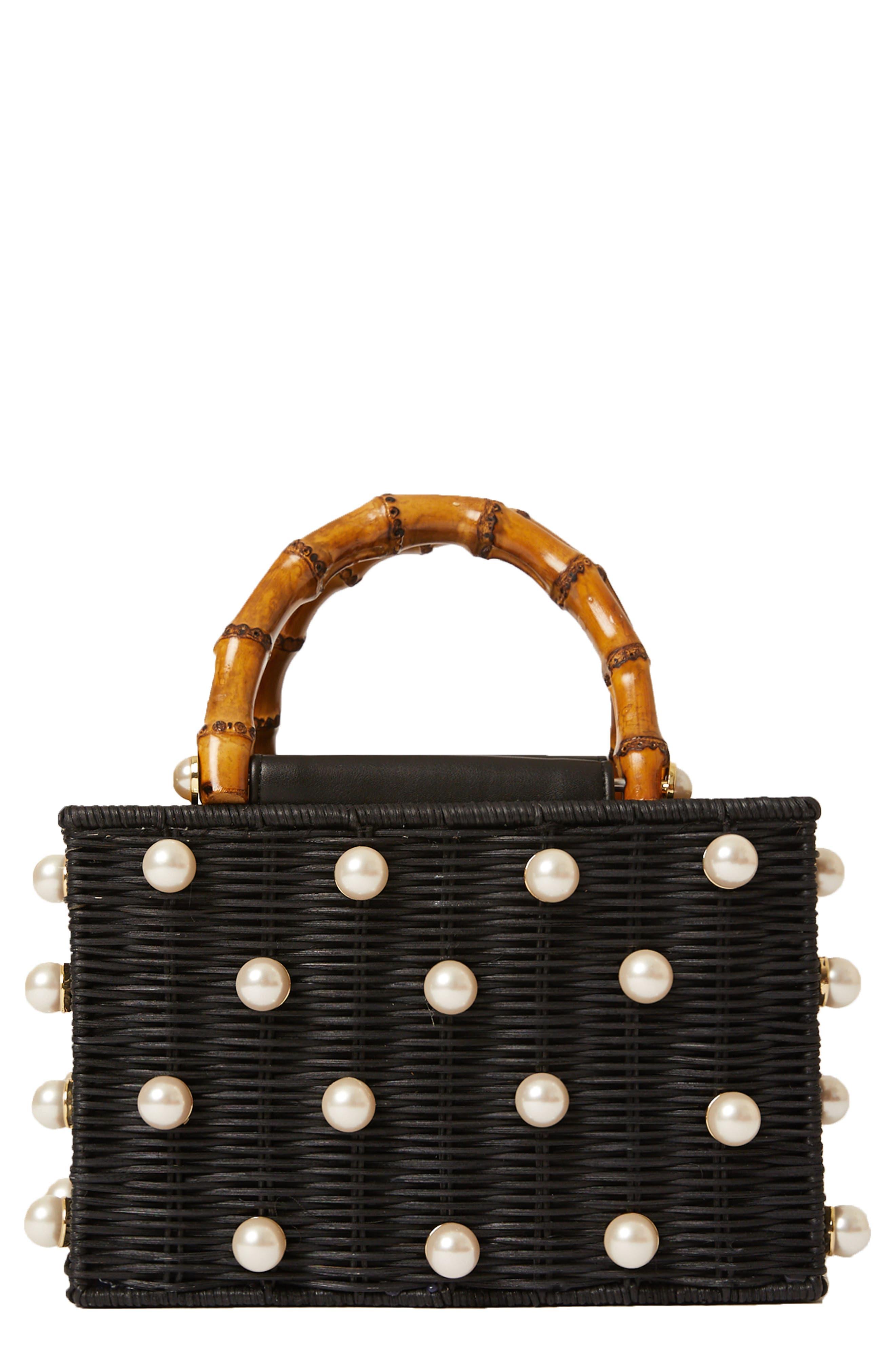 Chloe Imitation Pearl Rattan Bag