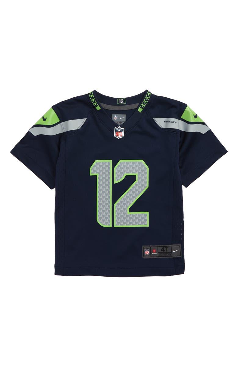 online store 1b27a 7dd88 NFL Logo Seattle Seahawks Russell Wilson Jersey