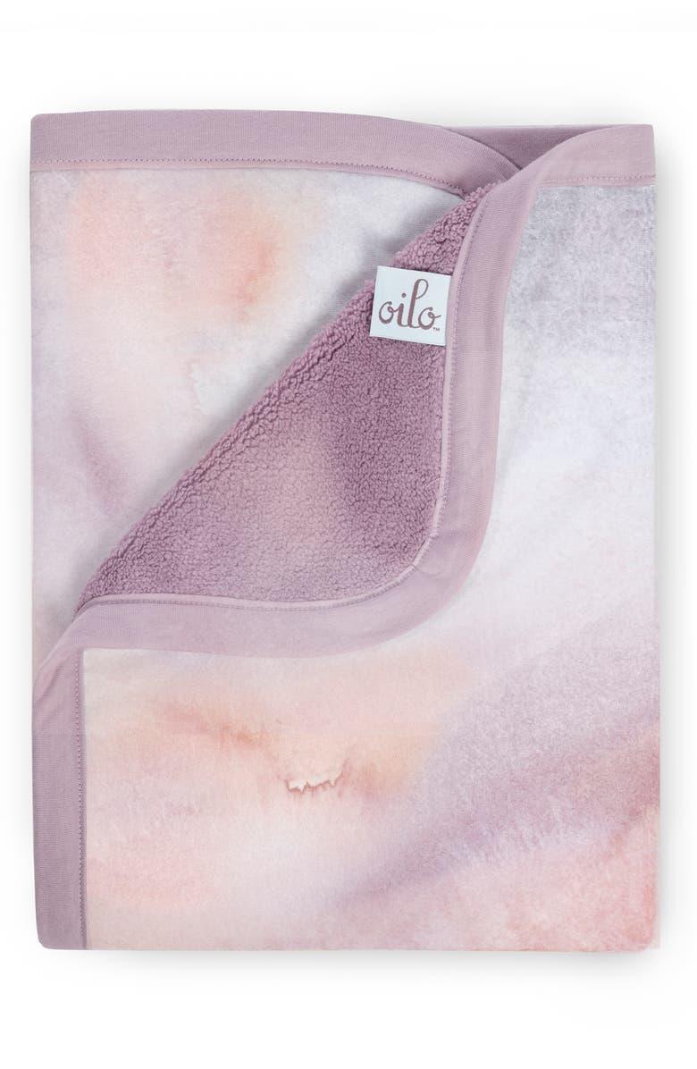 OILO Sandstone Jersey Cuddle Blanket, Main, color, LAVENDER