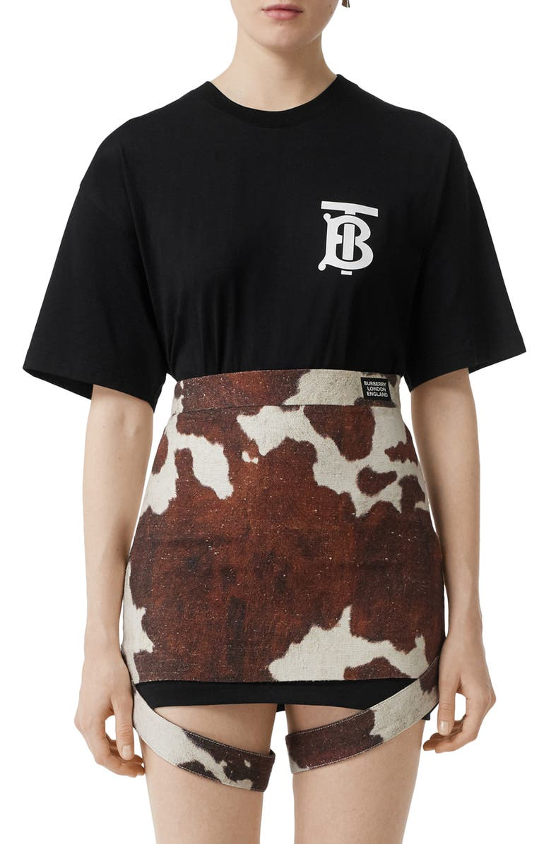 BURBERRY Emerson TB Logo Tee, Main, color, BLACK