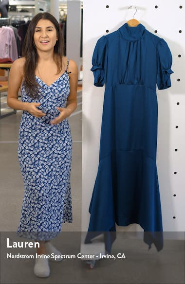 Ruffle Puff Sleeve Dress, sales video thumbnail