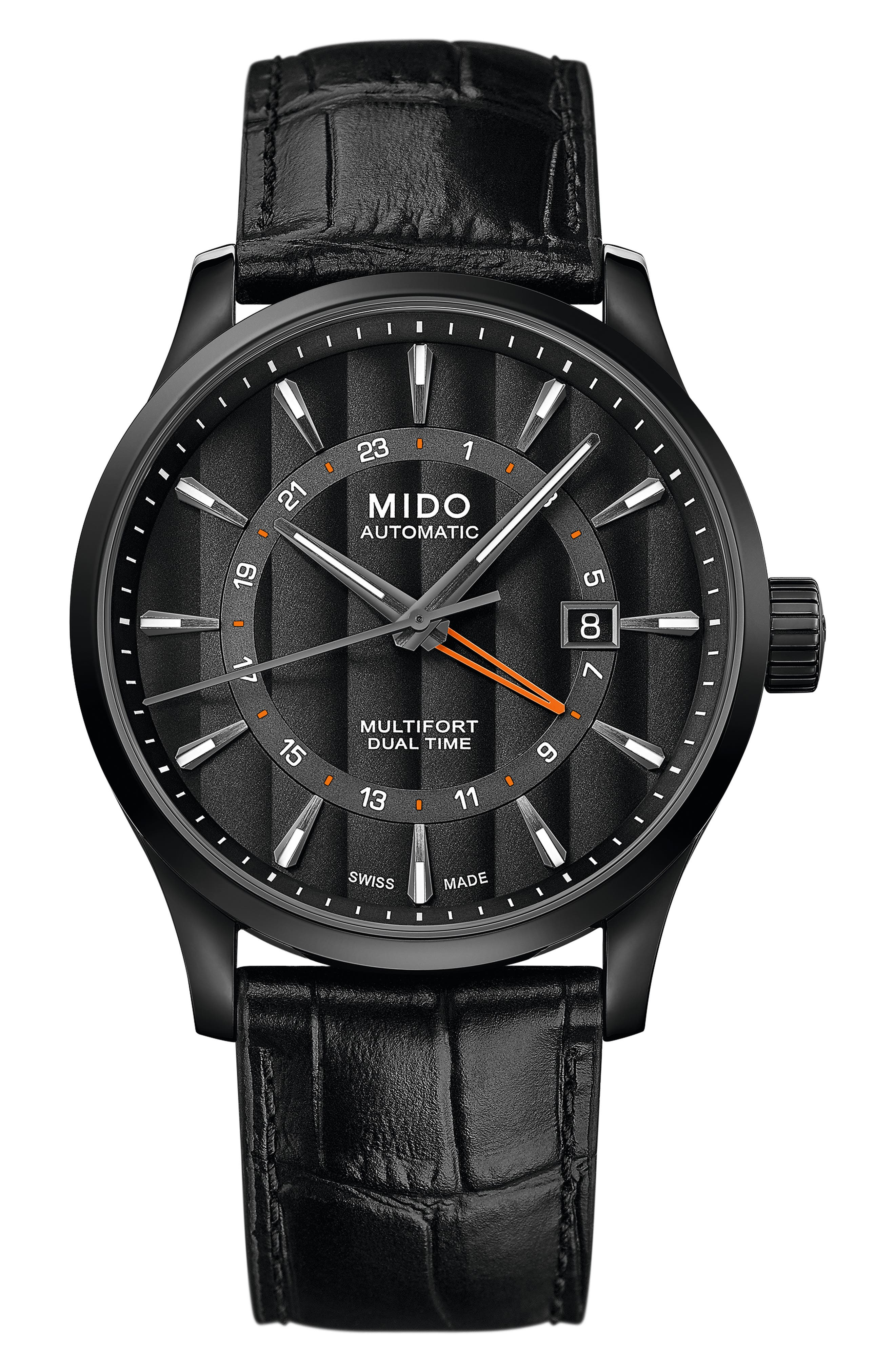 Multifort Automatic Leather Strap Watch