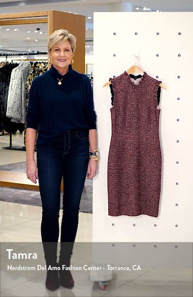 Tweed Knit Sheath Dress, sales video thumbnail
