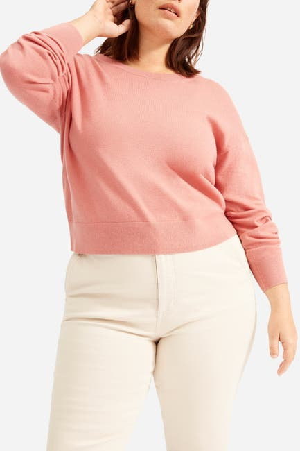 Image of EVERLANE The Cotton–Merino Summer Crew Top