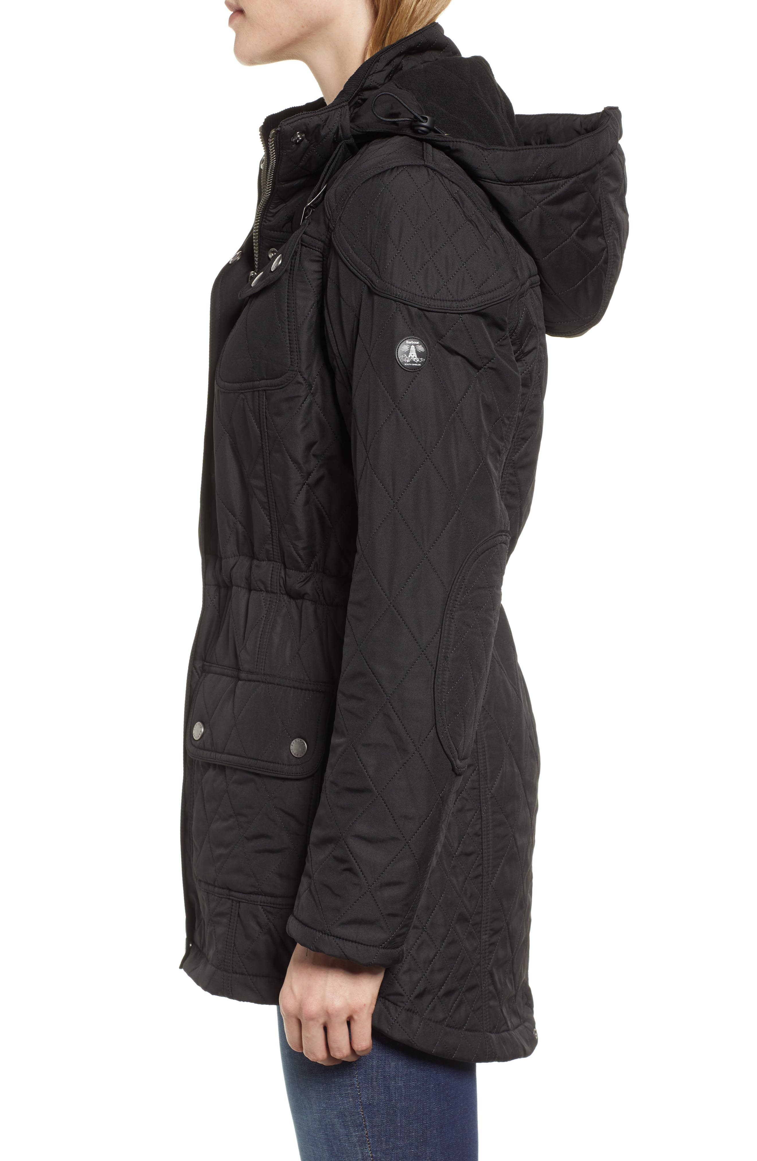 ,                             'Arrow' Quilted Anorak,                             Alternate thumbnail 10, color,                             001